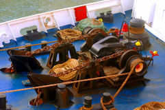 Boat deck equipments Royalty Free Stock Image