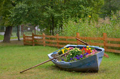 Boat decoration with flowers Royalty Free Stock Image