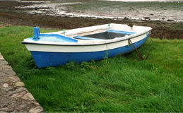 Boat in Dingle. Picture of boat on shore in Dingle,Ireland Stock Photo