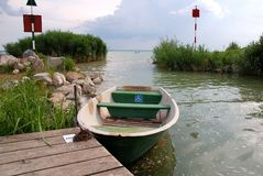 Boat for disabled people Royalty Free Stock Photo