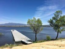 Boat dock. At Lake Henshaw royalty free stock photos