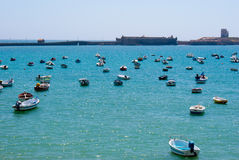 Boat dock in Cadiz Stock Images