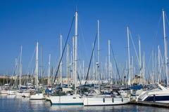 Boat Dock in Cagliari, Sardinia. Royalty Free Stock Photo