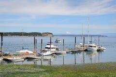 Boat Dock, Coupeville Pier, Washington State Stock Images