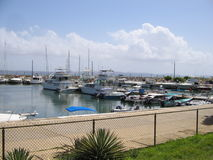 Boat dock in Cumana , Venezuela royalty free stock image