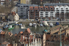 Boat dock in Gdansk Royalty Free Stock Photos