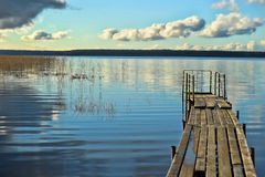 Boat dock on a lake Stock Photography