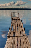 Boat dock on a lake Stock Photos
