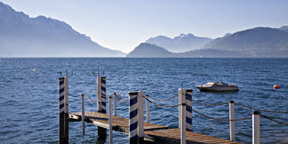 Boat dock on Lake Como Royalty Free Stock Photography