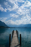 Boat dock Lake Geneva Stock Image