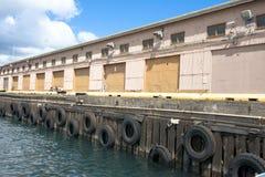 Boat dock in marina Stock Image