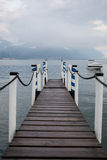 Boat dock in Menaggio Royalty Free Stock Images