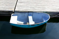 Boat at a dock Royalty Free Stock Images