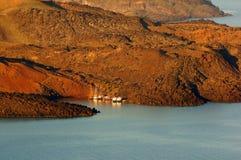 Boat dock in Santorini Royalty Free Stock Photo