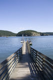 Boat dock sea bay Stock Photography