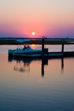 Boat Dock Sunset Stock Images