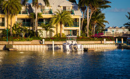 Turtle bay turks and caicos. Boat and dock in turtle bay turks and caicos Royalty Free Stock Image
