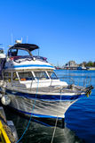Boat docked in a port Stock Photography