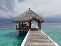 Boat Docking. Maldives Islands Boat Docking Nature Royalty Free Stock Photos