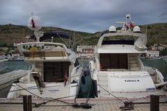 Boat docking port Royalty Free Stock Photos