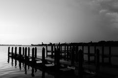 Boat Docks. At Indian Mound Park, Englewood, FL stock image