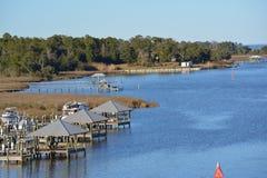 Boat docks Stock Photo