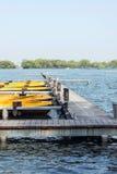 The boat docks and Su causeway Stock Photo