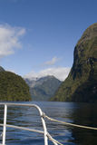On a boat through Doubtful Sounds royalty free stock photography