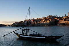 Boat in Douro river Royalty Free Stock Images
