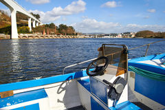 Boat on Douro river Stock Photo