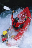 boat down inflatable paddling people rapids two Στοκ εικόνες με δικαίωμα ελεύθερης χρήσης