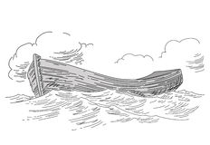 Boat drawing Stock Images