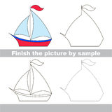 Boat. Drawing worksheet. Stock Images