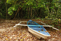 Boat on a Dried Up Shore Stock Photo