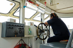 Boat driver Stock Image
