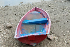 Boat, drought, water, fishing, crisis, business, damage, soil, climate change Royalty Free Stock Images