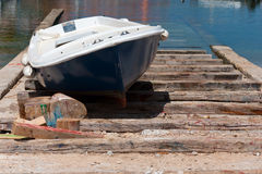 Boat Dry Dock Royalty Free Stock Photography