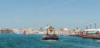 Boat on Dubai Creek Royalty Free Stock Photography