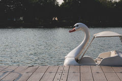 Boat duck. By the pier Royalty Free Stock Images