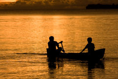 Boat at dusk Royalty Free Stock Images