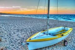 Boat at dusk Royalty Free Stock Image