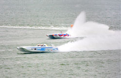 Boat Dyna 18 prepared for official practice Stock Photo