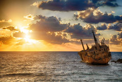 Boat EDRO III shipwrecked Royalty Free Stock Photos