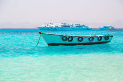 Boat on the Egyptian Red Sea Royalty Free Stock Photography