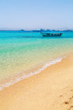 Boat on the Egyptian Red Sea Royalty Free Stock Photo