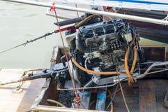 Boat engine of amphawa floating market thailand Royalty Free Stock Images