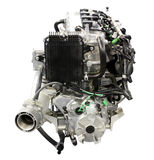Boat engine front view Royalty Free Stock Photo