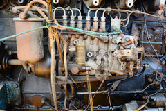 Boat engine, Motor boat engine traditional boat in Thailand. stock images