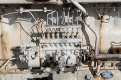 Boat Engine. Old engine From Fishing Boat Royalty Free Stock Photos