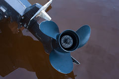 Boat engine propeller Stock Photo